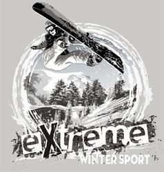 winter sport snowboard vector image vector image