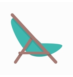 Beach Chaise in Flat Design vector image vector image