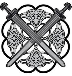 celtic swords vector image