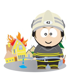 firefighter vector image vector image
