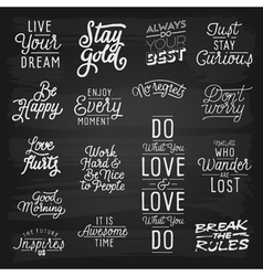 Hand drawn lettering slogans vector image