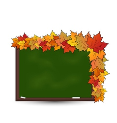 School board with maple leaves vector image