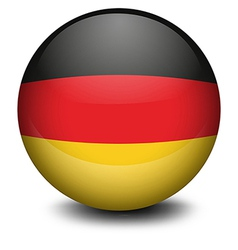 A ball with the flag of germany vector