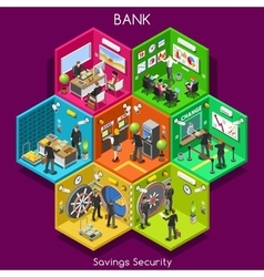 Bank 01 Cells Isometric vector image
