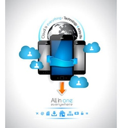 Cloud Computing concept Background vector image