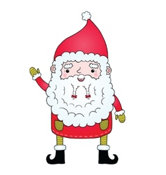 Cute cartoon Santa Claus with pigtail vector image vector image