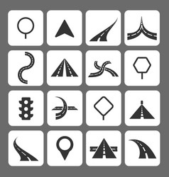 Road movement signs and traffic navigation icons vector