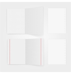 Set of notepaper sheets with shadow isolated on vector image vector image