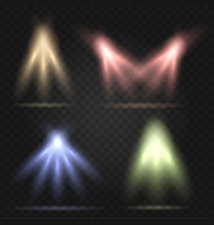 stage lighting set vector image vector image