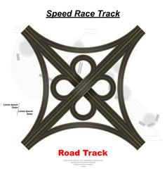 traffic junction background vector image