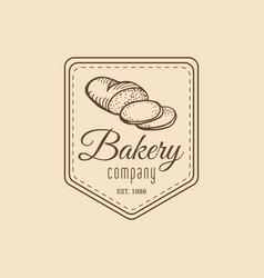 vintage baked bread logo retro hipster vector image