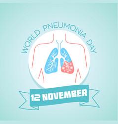 12 november pneumonia day vector image