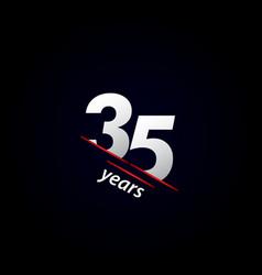 35 years anniversary celebration black and white vector
