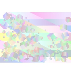 Abstract background with multicolor cubes vector