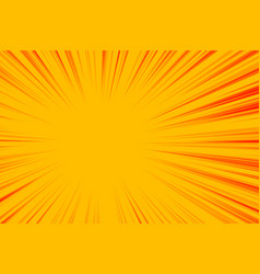 Abstract yellow zoom lines empty background vector