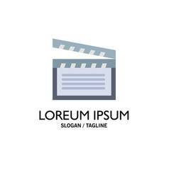 american movies video usa business logo template vector image