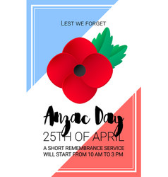 Anzac day lest we forget banner paper cut red vector