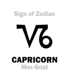 Astrology sign of zodiac capricornus the vector