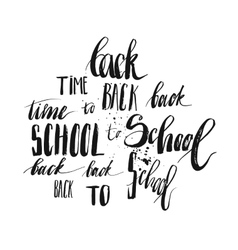 Back to School lettering set vector
