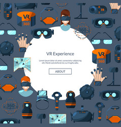 background with flat style virtual reality vector image
