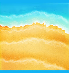 Background with sea sand and waves vector
