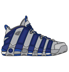 basketball shoes design vector image