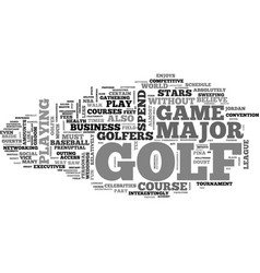 Benefits of golf text word cloud concept vector