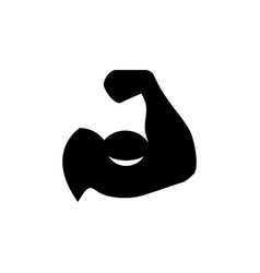 Biceps icon and fitness concept vector