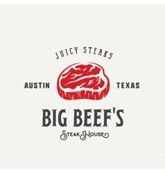 Big Beef Steak House Vintage Label Emblem vector image