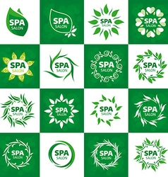 Biggest collection of logos for spa salon vector