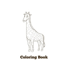 Coloring book giraffe african savannah animal vector image