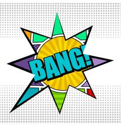 comic bright concept vector image