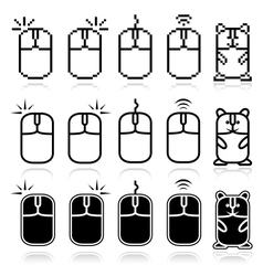 Computer mouse icon set vector image vector image