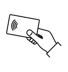 Contactless wireless pay nfc technology vector