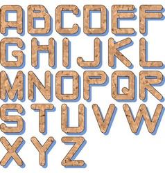 cork texture alphabet vector image