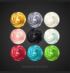 creamy swirling patterns vector image