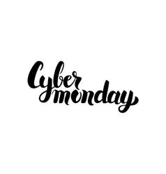 Cyber Monday Handwritten Calligraphy vector