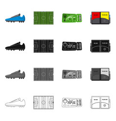 design of soccer and gear sign collection vector image