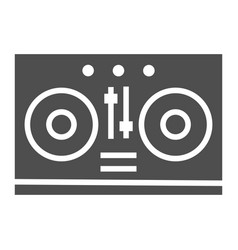 dj mixer glyph icon music and sound turntable vector image