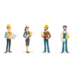 Engineers Cartoon Set vector