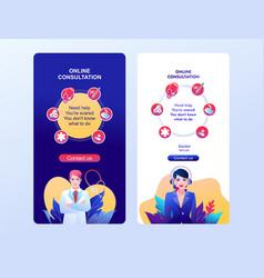 Epidemiologist online mobile app template vector