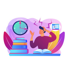 exams and tests concept vector image