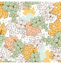 Fall Grapes Harvest Seamless Pattern Wine vector