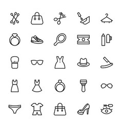 Fashion line icons 3 vector