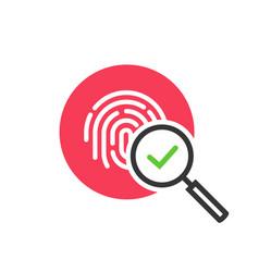 Fingerprint identification check or access vector