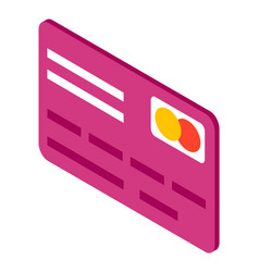 Flat simple image credit card with master card vector