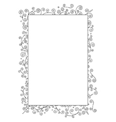 Floral Doodle Frame vector image