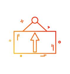 frame icon design vector image