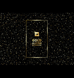gold glitter on a black background and texture vector image