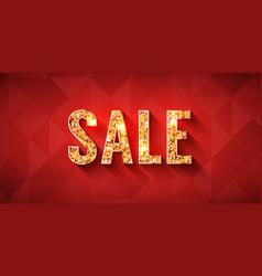 Golden lettering sale offer background or banner vector